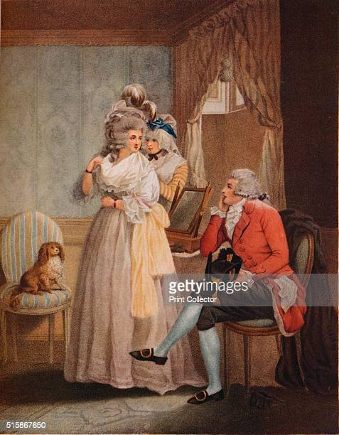 'Dressing for the Masquerade Laetitia Flies from Reflection to Public Entertainments' 1789 After George Morland From The Connoisseur Vol LXXV [The...