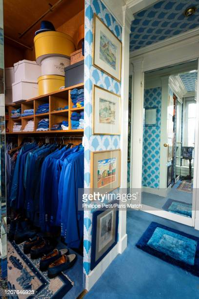 Dressing room in Villa Dancourt once inhabited by cabaret impresario Michou photographed for Paris Match in Montmartre on February 21 Paris France