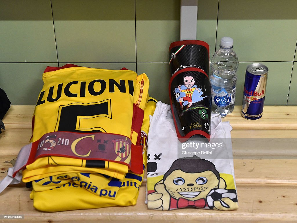 Dressing room of Benevento Calcio prior the Serie B match between US Avellino and Benevento Calcio at Stadio Partenio on December 10, 2016 in Avellino, Italy.
