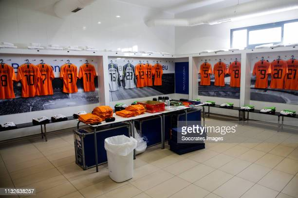 Dressing room of Holland U21 during the match between Holland U21 v USA U21 at the Pinatar Arena Football Center on March 24 2019 in San Pedro del...