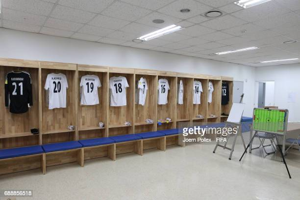 Dressing room of Iran ahaed the FIFA U20 World Cup Korea Republic 2017 group C match between Portugal and Iran at Incheon Munhak Stadium on May 27...
