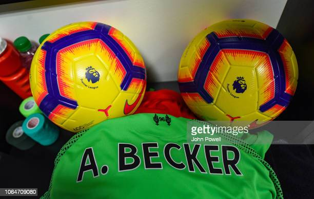 Dressing room of Liverpool before the Premier League match between Watford FC and Liverpool FC at Vicarage Road on November 24 2018 in Watford United...