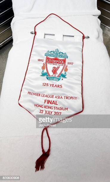 Dressing room of Liverpool during the Premier League Asia Trophy match between Liverpool FC and Leicester City FC at the Hong Kong Stadium on July 22...