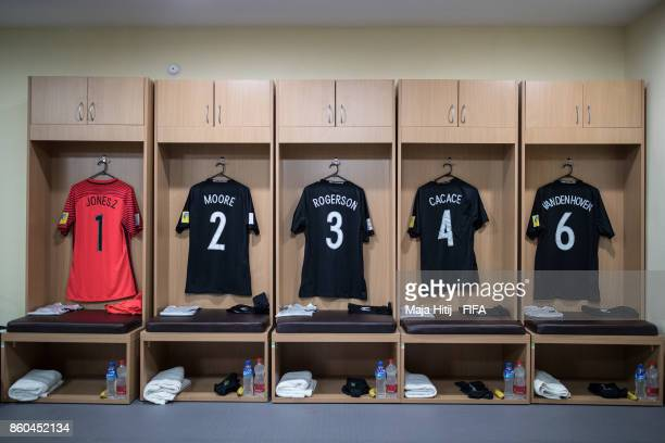 Dressing room of New Zealand prior the FIFA U17 World Cup India 2017 group A match between Mali and New Zealand at Jawaharlal Nehru Stadium on...