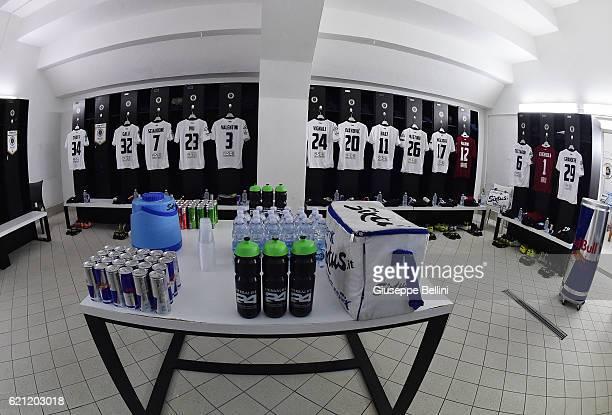 Dressing room of Spezia Calcio prior the Serie B match between Spezia Calcio and Hellas Verona FC at Stadio Alberto Picco on November 5 2016 in La...
