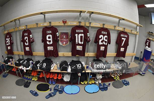 Dressing room of US Salernitana prior the Serie B match between US Salernitana and AC Perugia at Stadio Arechi on December 30 2016 in Salerno Italy