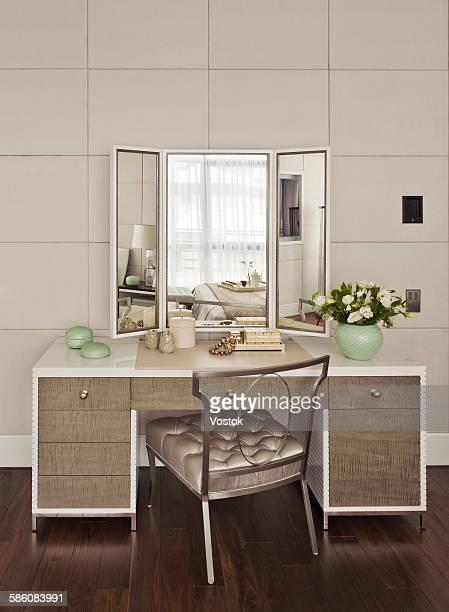 dressing table in bedroom