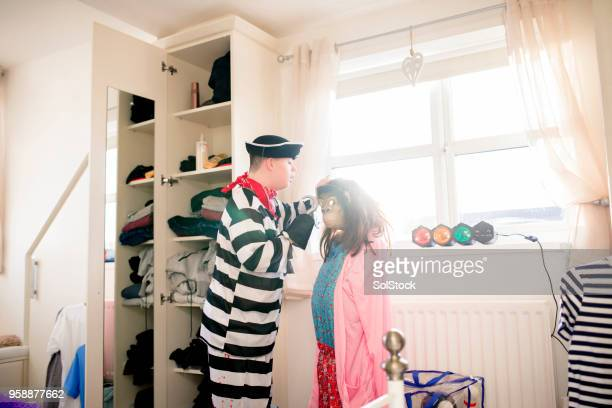 dressing up at home - monkey suit stock pictures, royalty-free photos & images