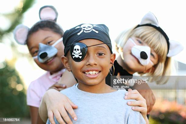dressing up - halloween kids stock photos and pictures