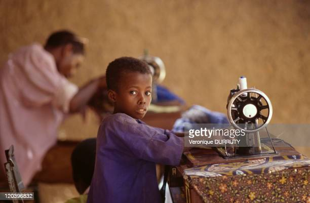 Dressmaker at Abalak market Niger in 1998