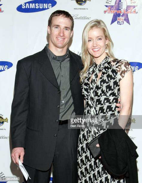 Drew and Brittany Brees at the NFL Alumni Player of the Year Awards at the Hard Rock Casino in Hollywood, Florida on February 2, 2007.