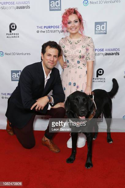 Drew Baldwin and Molly Burke attend the 2018 Streamys Purpose Awards at The Jefferson on October 18 2018 in Los Angeles California
