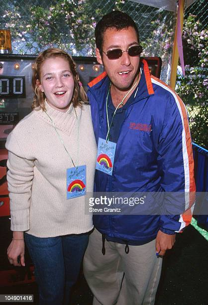 Drew Barrymore Adam Sandler during Pediatric AIDS Charity Event at Private Home in Los Angeles California United States