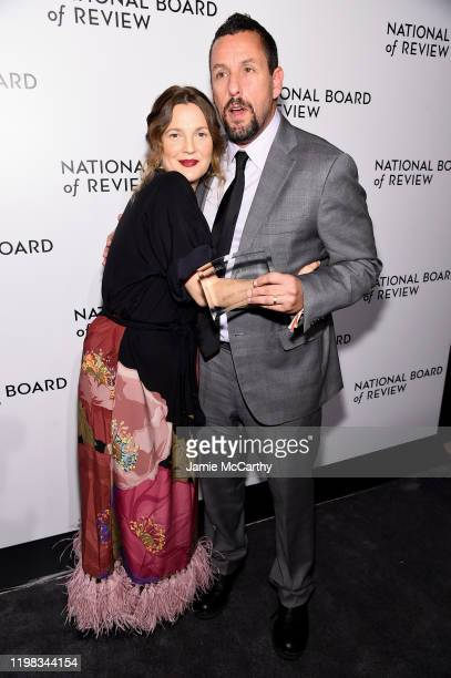 Drew Barrymore and Adam Sandler attend The National Board of Review Annual Awards Gala at Cipriani 42nd Street on January 08 2020 in New York City