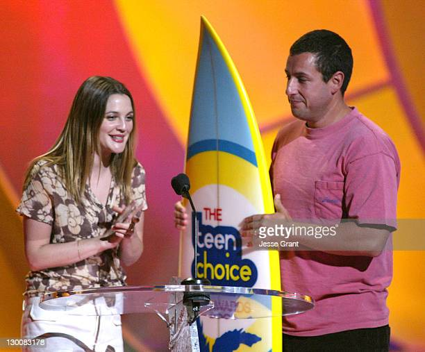 Drew Barrymore and Adam Sandler winners Choice Date Movie for '50 First Dates'