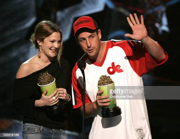 Drew Barrymore and Adam Sandler winners of Best Onscreen Team for '50 First Dates'