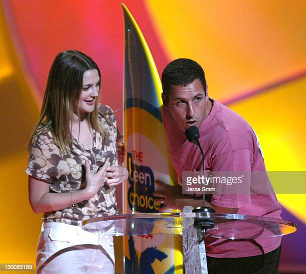Drew Barrymore and Adam Sandler winners of Choice Date Movie for '50 First Dates'