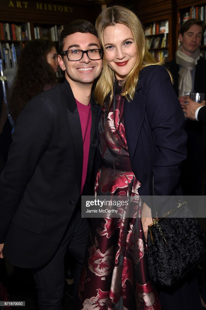 Drew Barrymore and Christian Siriano celebrate the release of his book 'Dresses To Dream About' at the Rizzoli Flagship Store on November 8, 2017 in New York City.