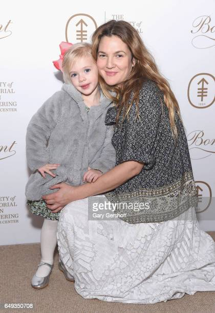 Drew Barrymore and daughter Frankie Barrymore Kopelman attend the 2017 Society Of MSK Bunny Hop at 583 Park Avenue on March 7 2017 in New York City