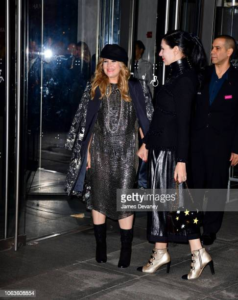 Drew Barrymore and guest arrive to the 2018 Museum of Modern Art Film Benefit A Tribute To Martin Scorsese at Museum of Modern Art on November 19...