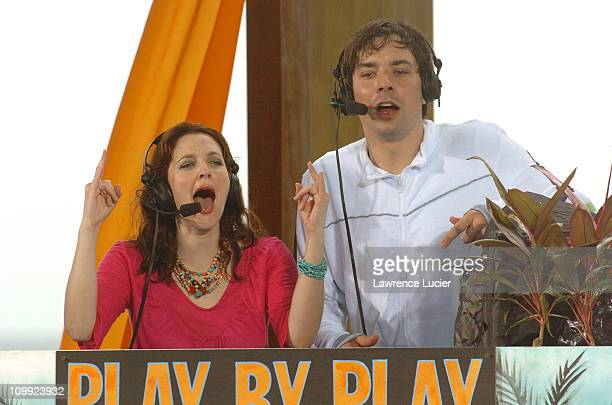 Drew Barrymore and Jimmy Fallon during MTV Spring Break 2005 March 9 2005 at The City in Cancun Quintana Roo Mexico