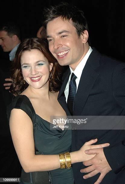 Drew Barrymore and Jimmy Fallon during ShoWest 2005 20th Century Fox Luncheon at Paris Hotel in Las Vegas Nevada United States