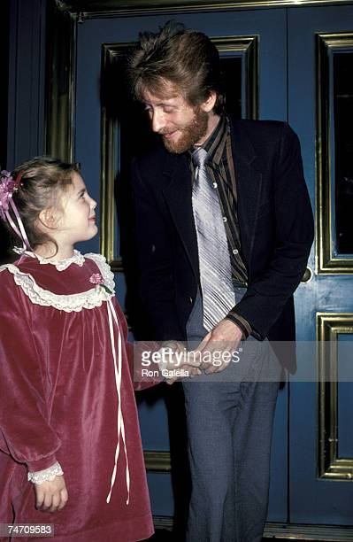 Drew Barrymore and John Blythe Barrymore at the Jimmy's Restaurant in Beverly Hills California