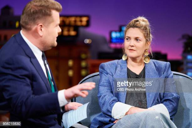 Drew Barrymore and John Boyega chat with James Corden during The Late Late Show with James Corden Wednesday March 21 2018 On The CBS Television...