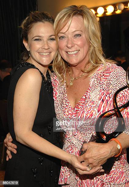 Drew Barrymore and Nancy Utley backstage at the 9th Annual Lupus LA Orange Ball at the Beverly Wilshire Four Seasons Hotel on May 28 2009 in Beverly...