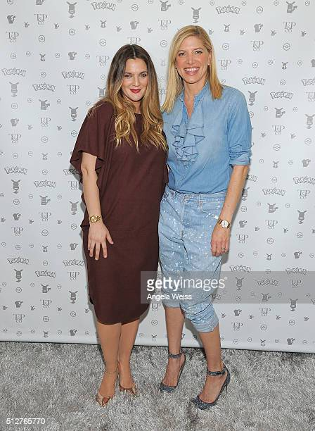 Drew Barrymore and Petra Flannery attend Tracy Paul Co presents Pokemon Afternoon Soiree at Sunset Tower on February 27 2016 in West Hollywood...
