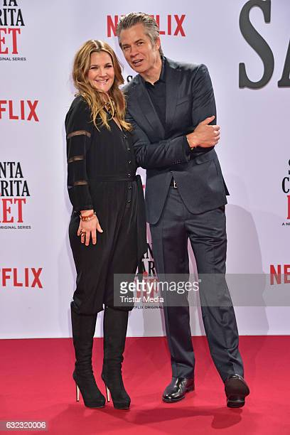 Drew Barrymore and Timothy Olyphant attend the Santa Clarita Diet Special Screening at CineStar on January 20 2017 in Berlin Germany Photo by Tristar...