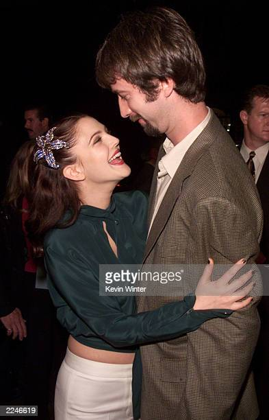 Drew Barrymore and Tom Green at the premiere of 'Charlie's Angels' at the Chinese Theater in Los Angeles Ca on 10/22/00 Photo by Kevin Winter/Getty...