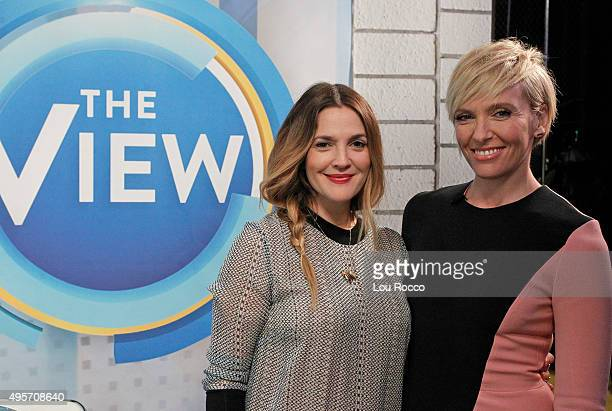 THE VIEW Drew Barrymore and Toni Collette are the guests Friday November 6 2015 on Walt Disney Television via Getty Images's The View The View airs...