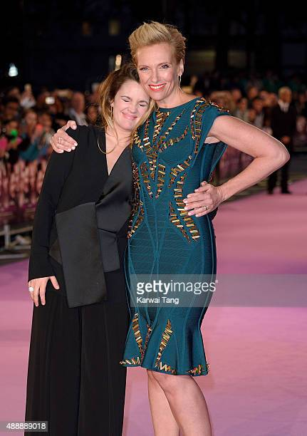 Drew Barrymore and Toni Collette attend the European Premiere of 'Miss You Already' at Vue West End on September 17 2015 in London England