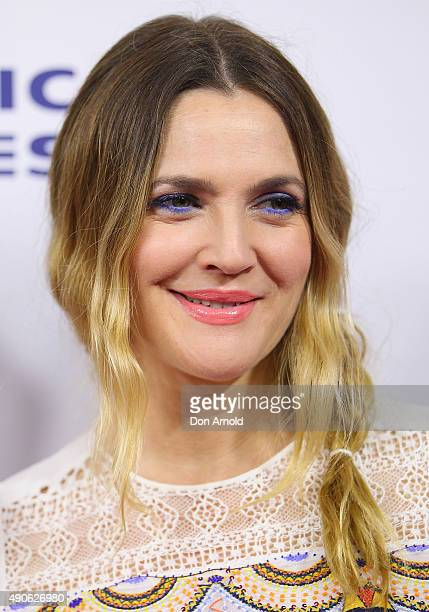Drew Barrymore arrives ahead of the 'Miss You Already' gala premiere at the State Theatre on September 30, 2015 in Sydney, Australia.