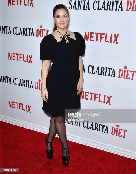 Drew Barrymore arrives at the Premiere Of Netflix's Santa Clarita Diet at ArcLight Cinemas Cinerama Dome on February 1 2017 in Hollywood California