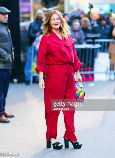 Drew Barrymore at GMA on April 1 2019 in New York City