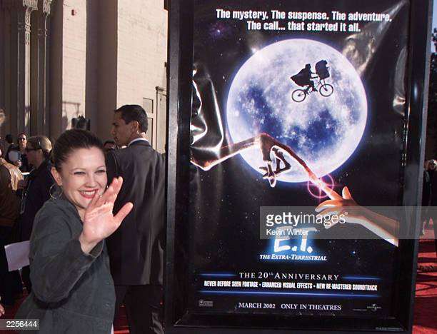 Drew Barrymore at the 20th anniversary premiere of ET The ExtraTerrestrial at the Shrine Auditorium in Los Angeles Ca Saturday March 16 2002 Photo by...