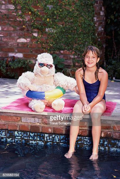 Drew Barrymore at the Pool
