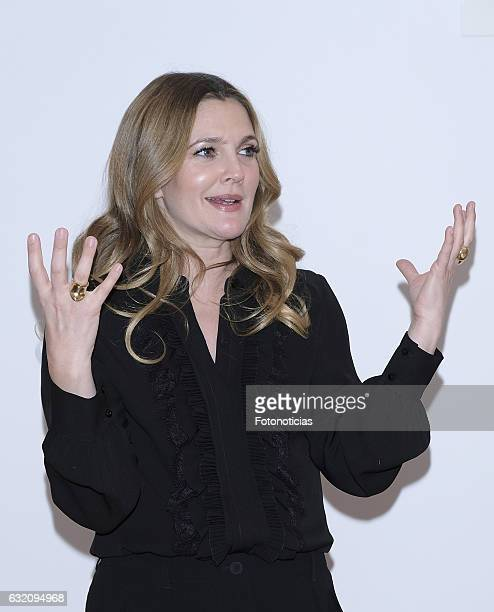 Drew Barrymore attends a photocall for 'Santa Clarita Diet' on January 19 2017 in Madrid Spain