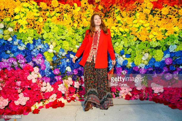 Drew Barrymore attends alice + olivia Celebrates Pride With Prom at Parrish Art Museum on June 24, 2021 in Water Mill, New York.