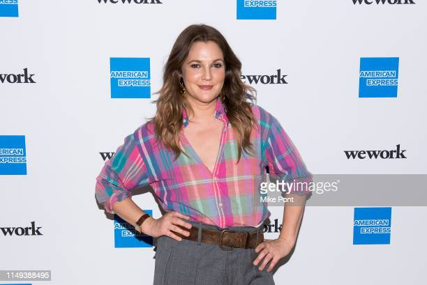 Drew Barrymore attends American Express and WeWork For The Love Of Collaboration at WeWork on May 15 2019 in New York City