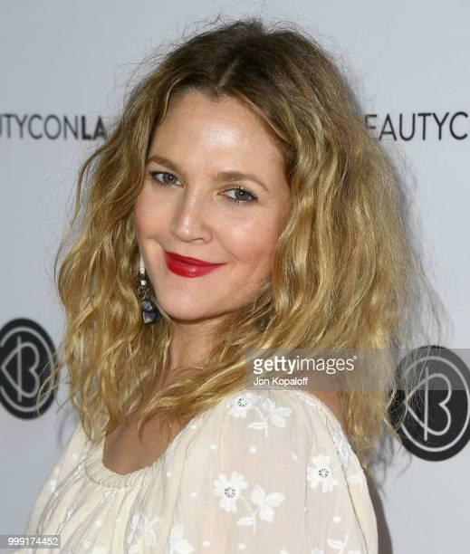 Drew Barrymore attends Beautycon Festival LA 2018 at Los Angeles Convention Center on July 14 2018 in Los Angeles California