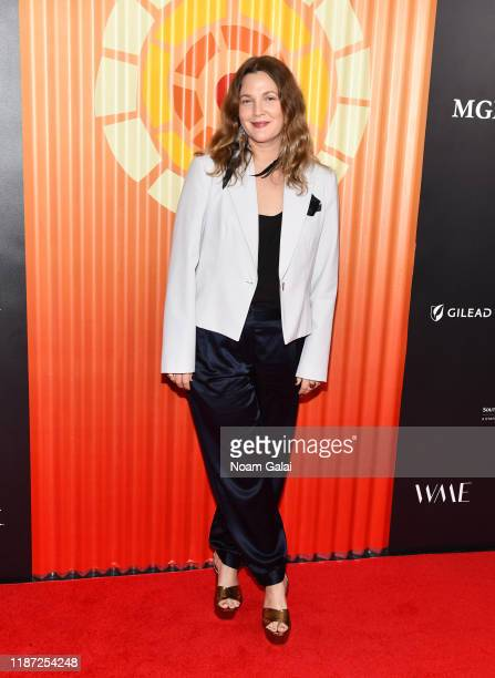 Drew Barrymore attends Charlize Theron's Africa Outreach Project Fundraiser at The Africa Center on November 12 2019 in New York City