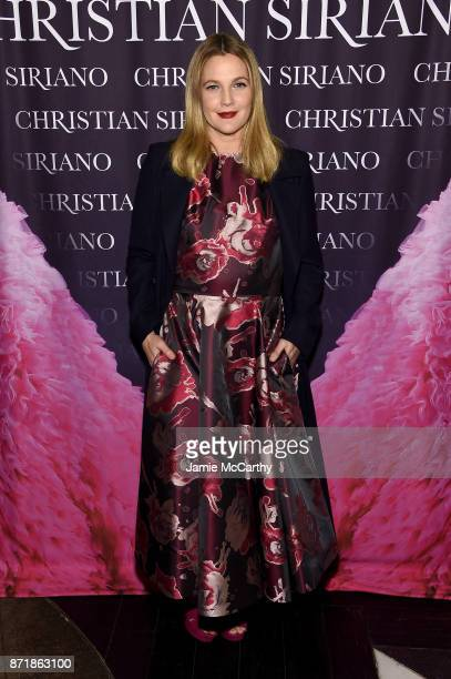 Drew Barrymore attends Christian Siriano celebrates the release of his book 'Dresses To Dream About' at the Rizzoli Flagship Store on November 8 2017...