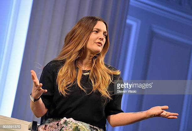 Drew Barrymore attends Financo CEO Forum 2016 on January 18 2016 in New York City