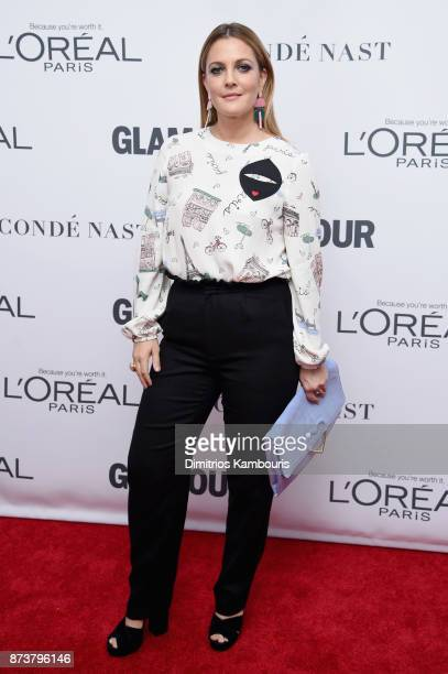 Drew Barrymore attends Glamour's 2017 Women of The Year Awards at Kings Theatre on November 13 2017 in Brooklyn New York