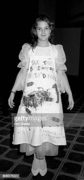 Drew Barrymore attends March of Dimes Gourmet Gala on March 4 1986 at the Sheraton Premiere Hotel in Universal City California