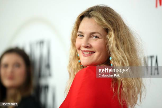 Drew Barrymore attends Netflix's Santa Clarita Diet Season 2 Premiere at The Dome at Arclight Hollywood on March 22 2018 in Hollywood California