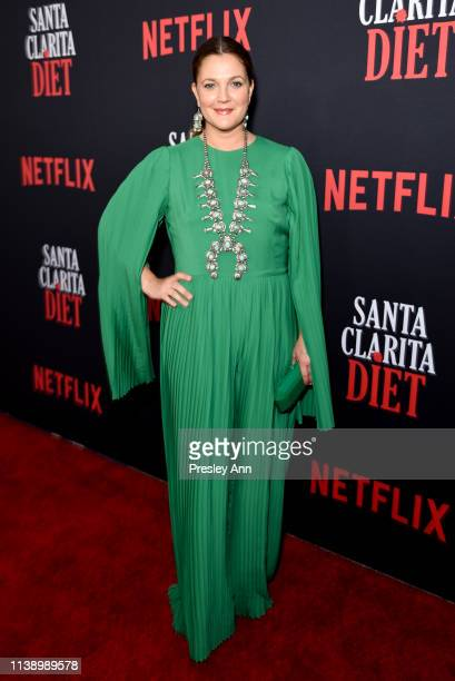 Drew Barrymore attends Netflix's Santa Clarita Diet Season 3 Premiere at Hollywood Post 43 on March 28 2019 in Los Angeles California